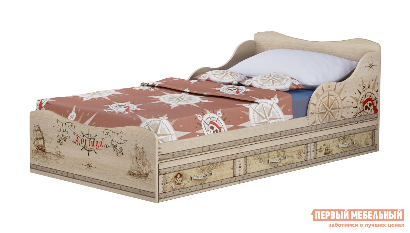 Детская кровать  Квест (05) Дуб Сонома