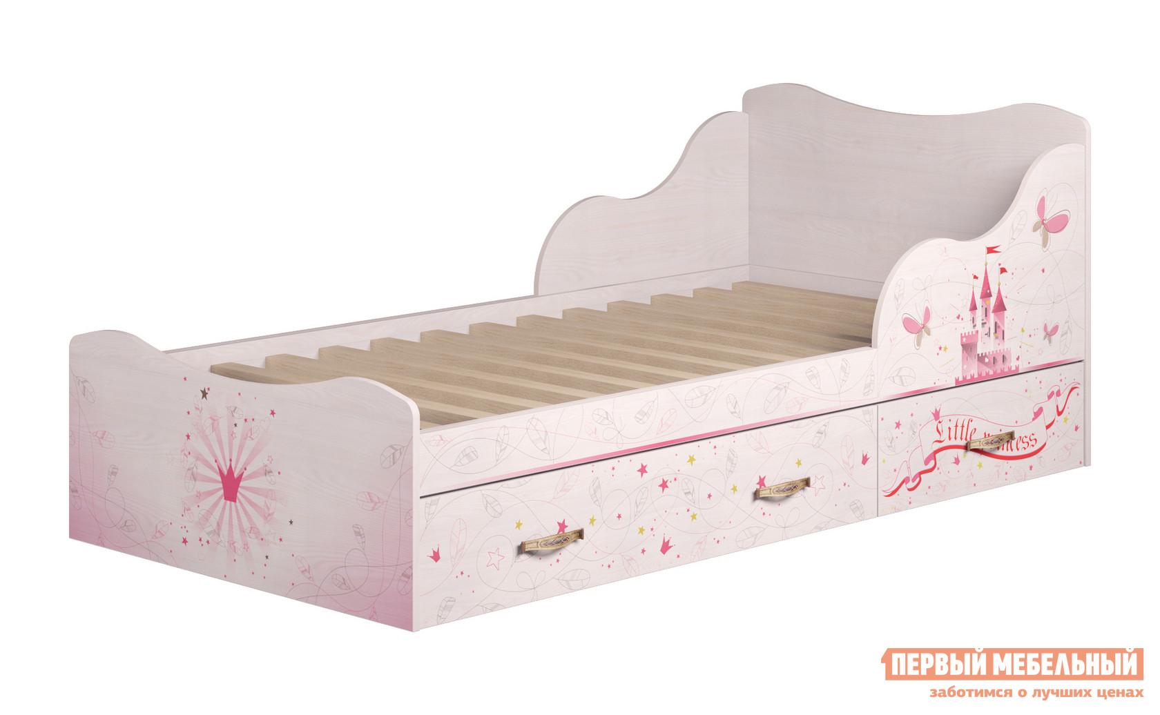 Кровать с ящиками ТД Арника Принцесса (05) детская кровать тахта с выдвижными ящиками тд арника ид 01 251