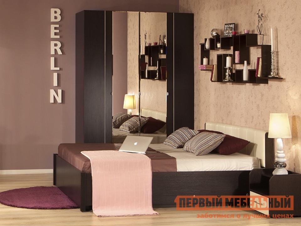 Двуспальная кровать с изголовьем из экокожи ТД Арника BERLIN3x двуспальная кровать тд арника амели x кровать металлический каркас