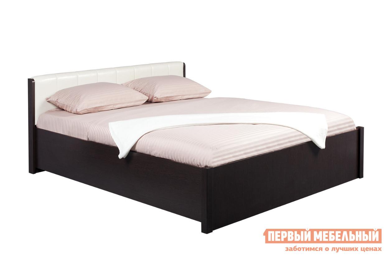 Кровать Глазов-Мебель BERLIN3x Венге / Винил кожа, Спальное место 1800 X 2000 мм, Без ортопедического основания