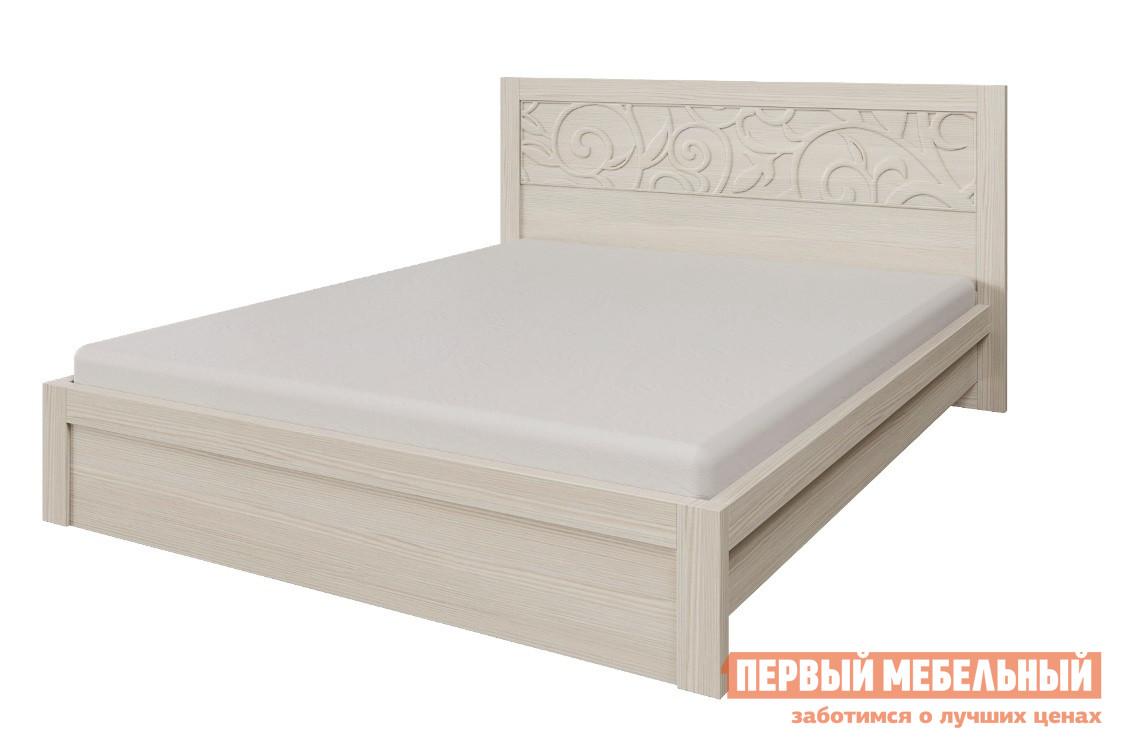 Кровать Арника Ирис Кровать двойная 1600мм Дуб бодега, Без матрасаДвуспальные кровати<br>Габаритные размеры ВхШхГ 969x1760x2078 мм. Кровать с изысканно оформленным изголовьем украсит вашу спальню.  Особенно хорошо эта кровать смотрится с другими элементами модульной серии «Ирис».  В стоимость кровати входит ортопедическое основание.  Также при заказе можно выбрать вариант комплектации: с матрасом или без. Размер спального места 1600 х 2000 мм. Кровать выполнена из ЛДСП, изголовье украшено узором из МДФ.<br><br>Цвет: Дуб бодега<br>Цвет: Бежевый<br>Высота мм: 969<br>Ширина мм: 1760<br>Глубина мм: 2078<br>Кол-во упаковок: 5<br>Форма поставки: В разобранном виде<br>Срок гарантии: 24 месяца<br>Тип: Простые<br>Материал: Деревянные, из ЛДСП, из МДФ<br>Размер: Спальное место 160х200 см<br>Особенности: С ортопедическим основанием, Без изножья, С матрасом