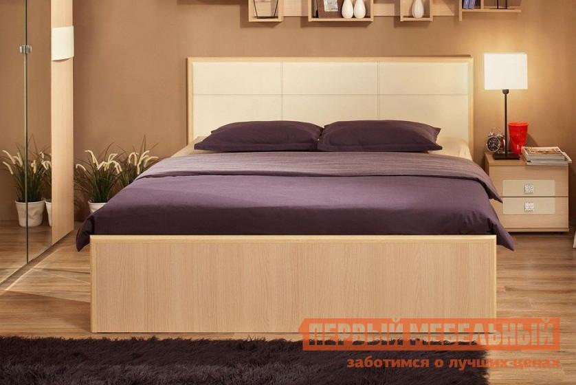 Двуспальная кровать дуб беленый ТД Арника АМЕЛИ х01 мебельтрия кровать двуспальная токио см 131 01 002 дуб белфорт кожа темная