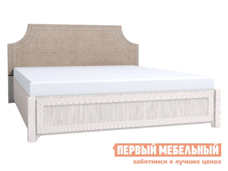 Двуспальная кровать  Карина 306 / 307 / 308 1600 Х 2000 мм, С деревянным основанием, Бодега светлый / Furor Brown Grey