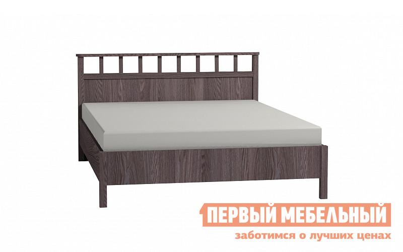 Двуспальная кровать  Sherlock 46 / 47 / 48 Ясень Анкор темный, Без основания, Спальное место 1600 X 2000 мм