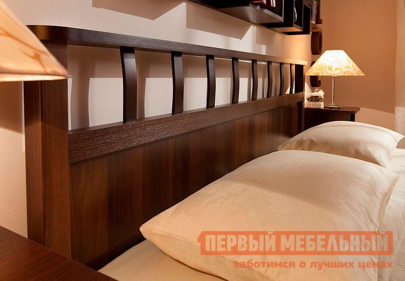 Двуспальная кровать  Sherlock 46 / 47 / 48 Орех Шоколадный, Без основания, Спальное место 1800 X 2000 мм