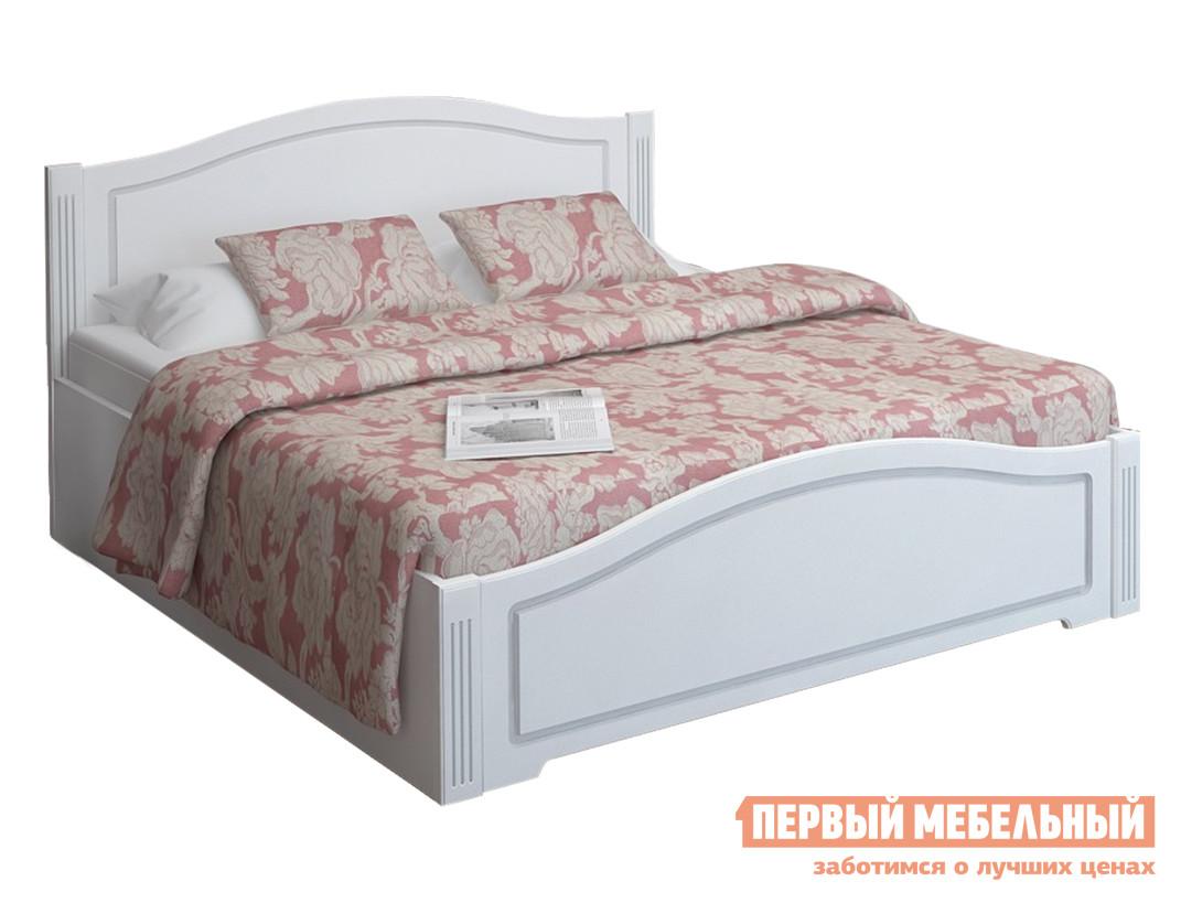 Двуспальная кровать  Виктория 5 с подъемным механизмом Белый глянец
