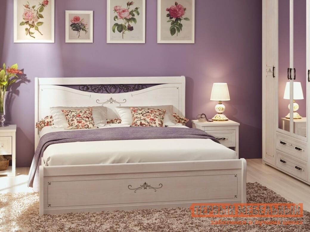 Двуспальная кровать с подъемным механизмом ТД Арника Афродита 01 двуспальная кровать тд арника амели x кровать металлический каркас