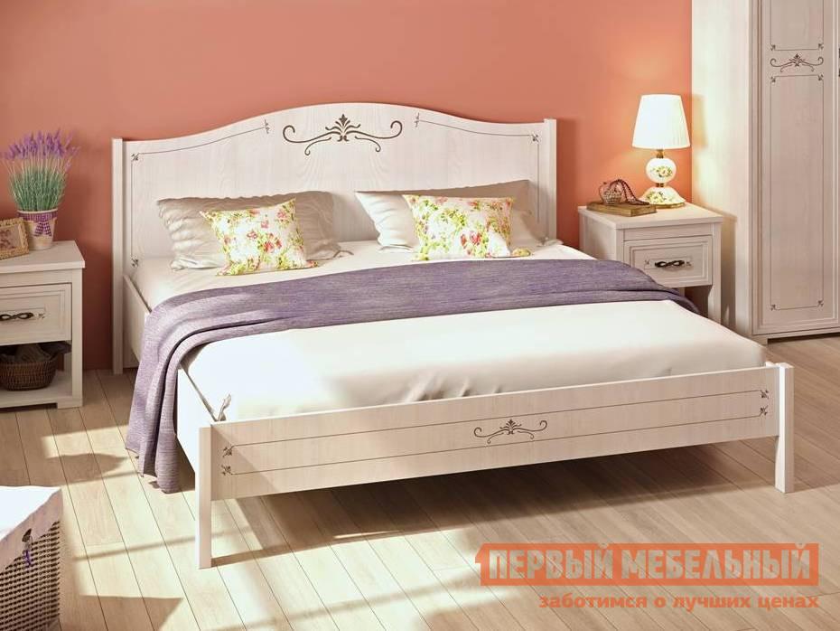 Двуспальная кровать Арника Афродита 05 Лиственница сибио, Без основания