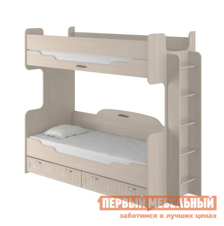 Кровать Интеди ИД 01.164а Дуб млечный