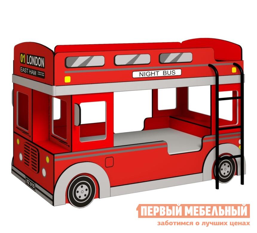 Фото Кровать-машина Глазов-Мебель Автобус 1 Красный, Без матрасов. Купить с доставкой