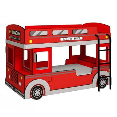 Кровать-машина Глазов-Мебель Автобус 1 Красный, Без матрасов