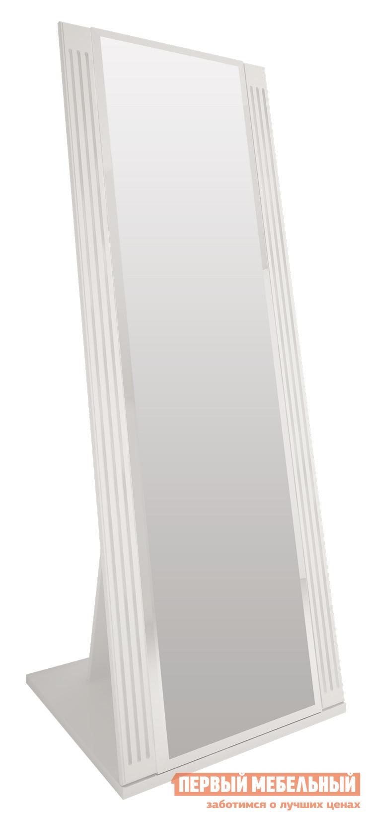Напольное зеркало Ижмебель Виктория 08 Белый глянец