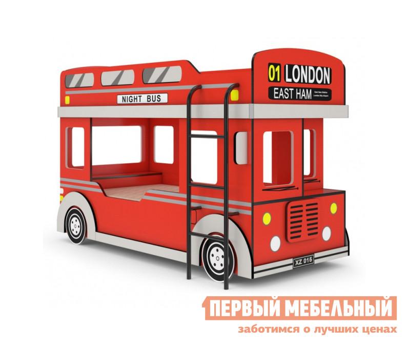 Двухъярусная кровать-машинка для детей ТД Арника Автобус 1