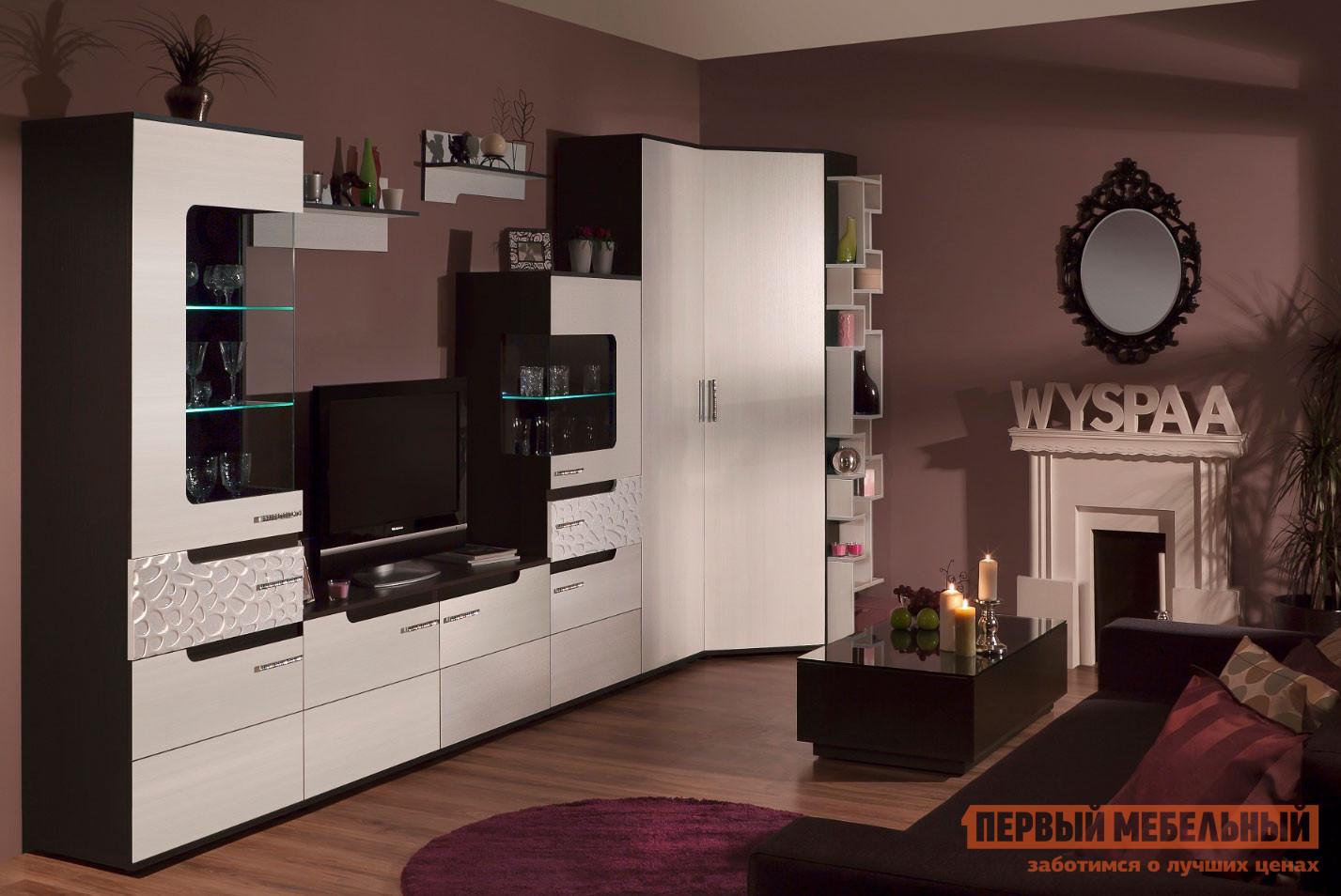 Модульная угловая стенка для гостиной ТД Арника Виспа К5 модульная стенка модерн 2