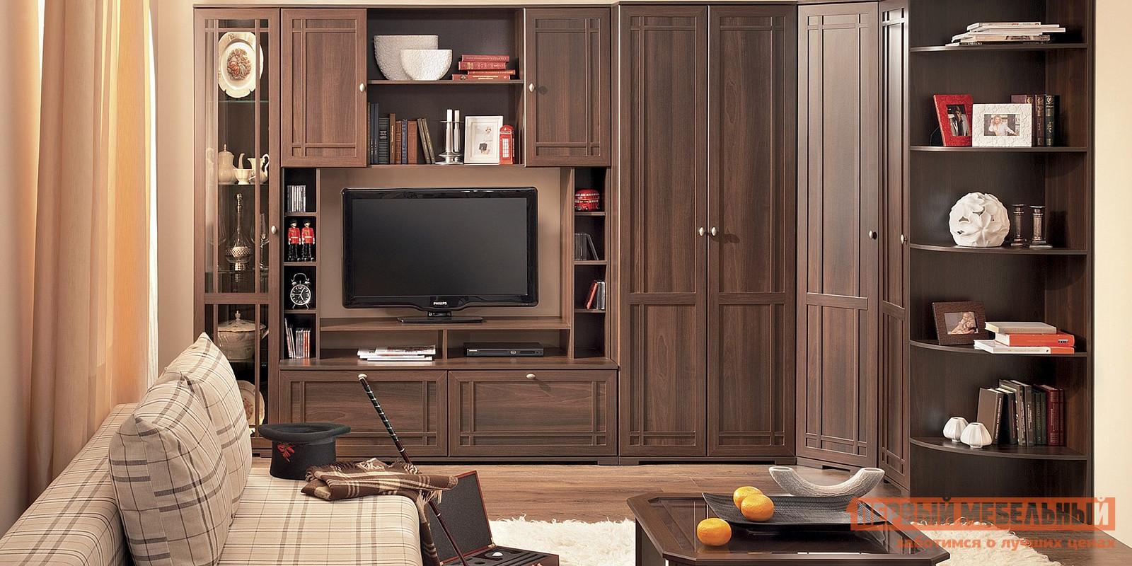 Угловая стенка в гостиную в классическом стиле ТД Арника Шерлок ГС К3