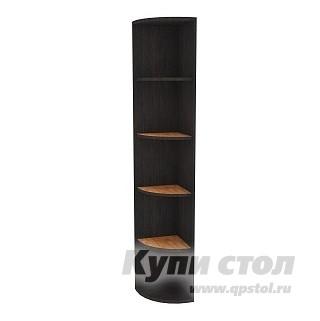 Стеллаж Глазов-Мебель Hyper Полка угловая 1 Венге / Палисандр