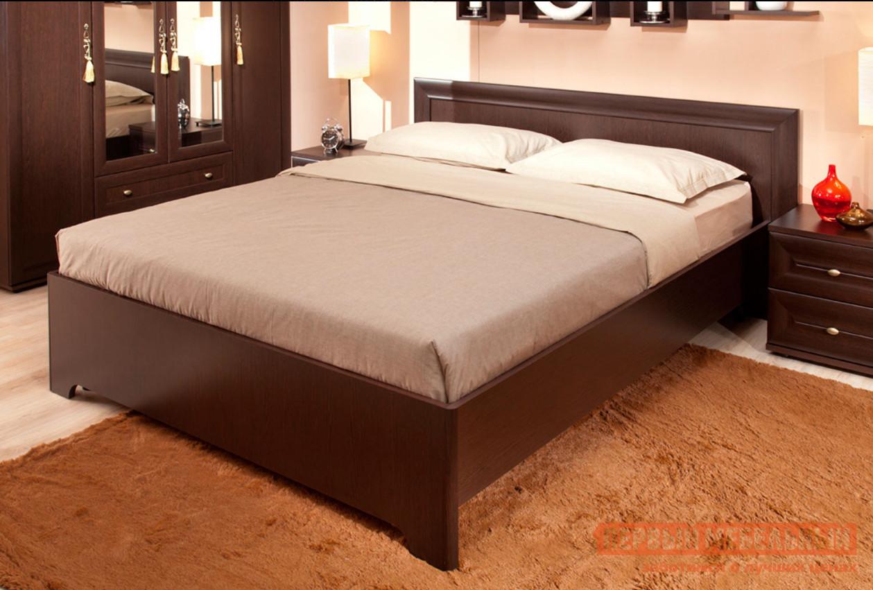 Полутороспальная кровать Глазов Анкона 3 / Анкона 4 Венге, 1200 Х 2000 мм, Без основания