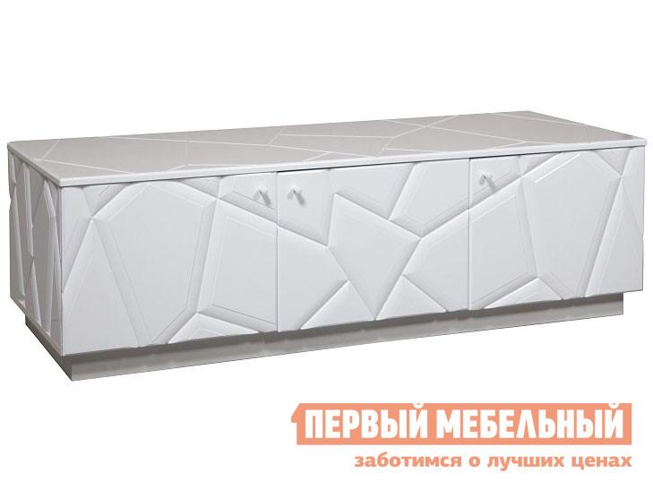 ТВ-тумба  Кензо КМК 0674.10 Тумба 3Д Белый / Белый глянец