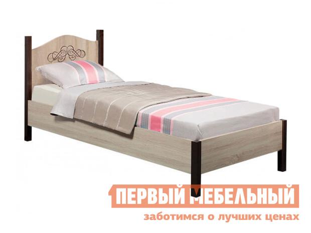Односпальная кровать  ADELE 5/4 Дуб Сонома / Орех Шоколадный, С металлическим основанием, 1200 Х 2000 мм