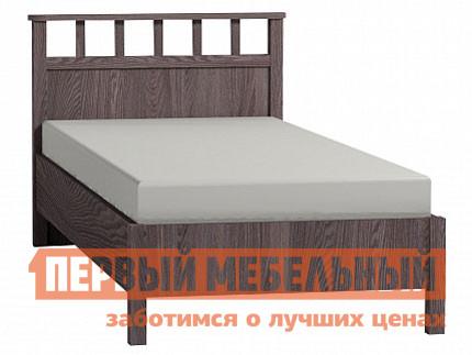 Односпальная кровать  Sherlock 49/50 (спальня) Кровать Люкс Ясень Анкор темный, Без основания, Спальное место 1200 Х 2000 мм
