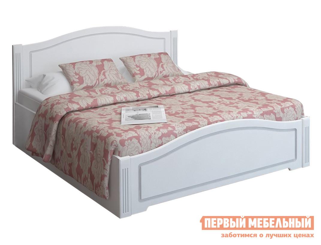 Односпальная кровать  Виктория 33 с ПМ / без ПМ Белый глянец, С подъемным механизмом