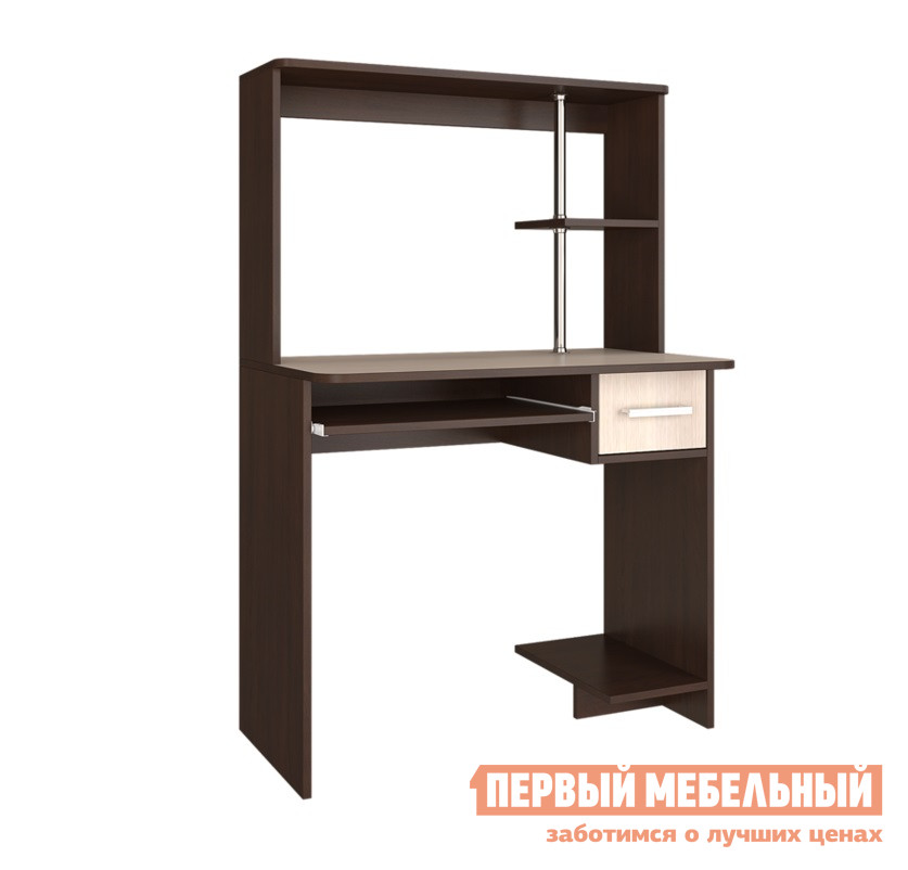 "Компьютерный стол BTS ""Дебют"" стол компьютерный Венге / Лоредо"