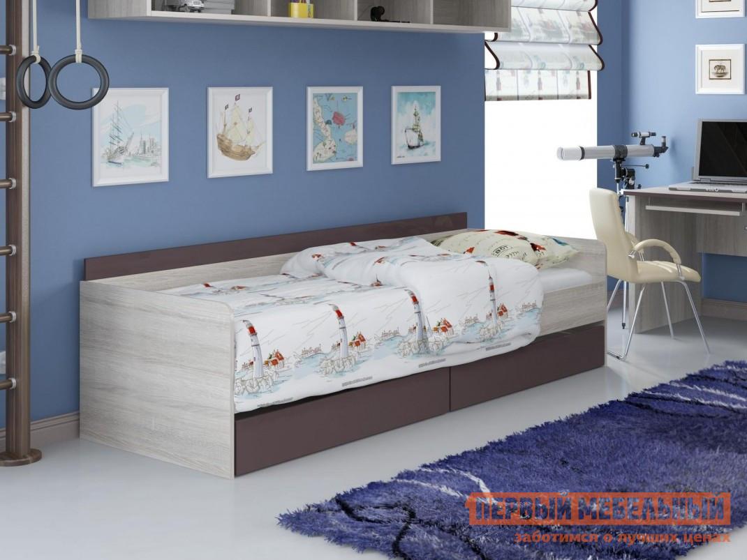 Детская кровать-тахта с выдвижными ящиками ТД Арника ИД 01.251 детская кровать тд арника 21 диван кровать