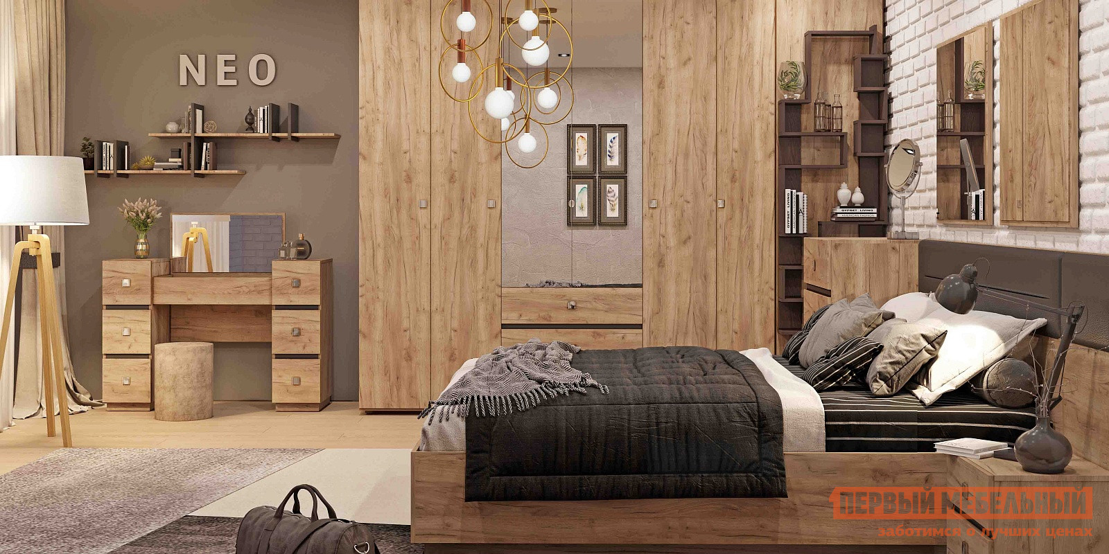 Спальный гарнитур ТД Арника Нео К2