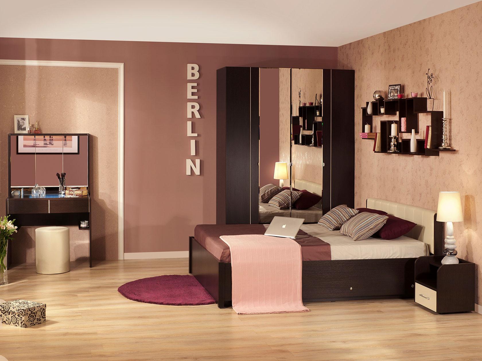 Комплект мебели для спальни ТД Арника Берлин К1 спальный гарнитур нк мебель комплект мебели для спальни прага к1