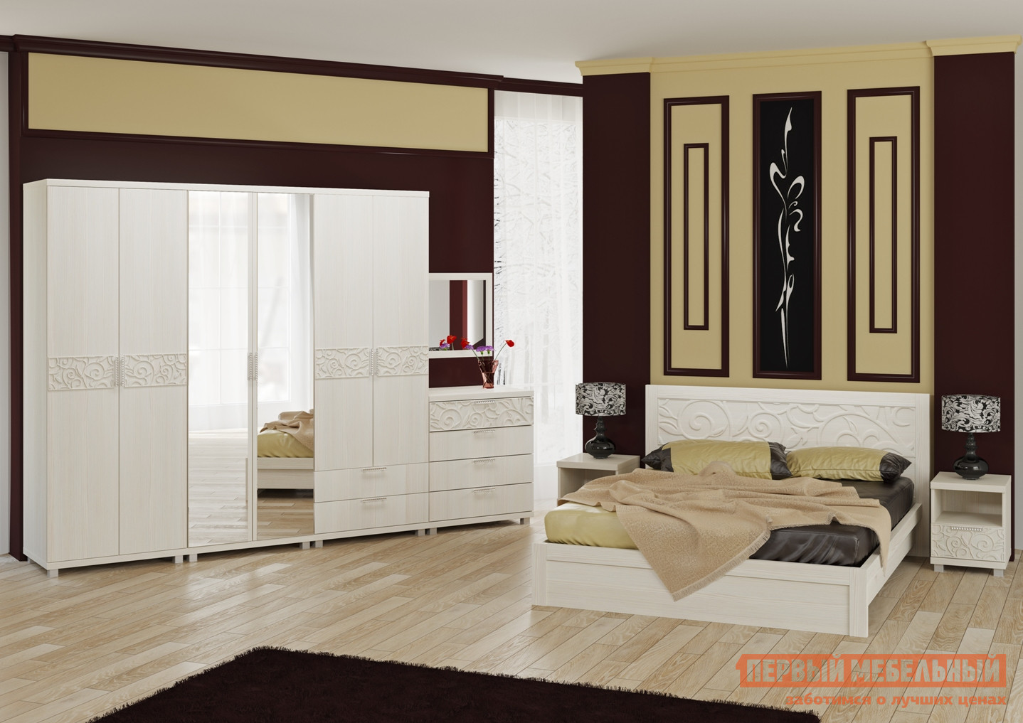 Комплект мебели для спальни ТД Арника Ирис К6 комплект мебели для спальни тд арника амели венге к1