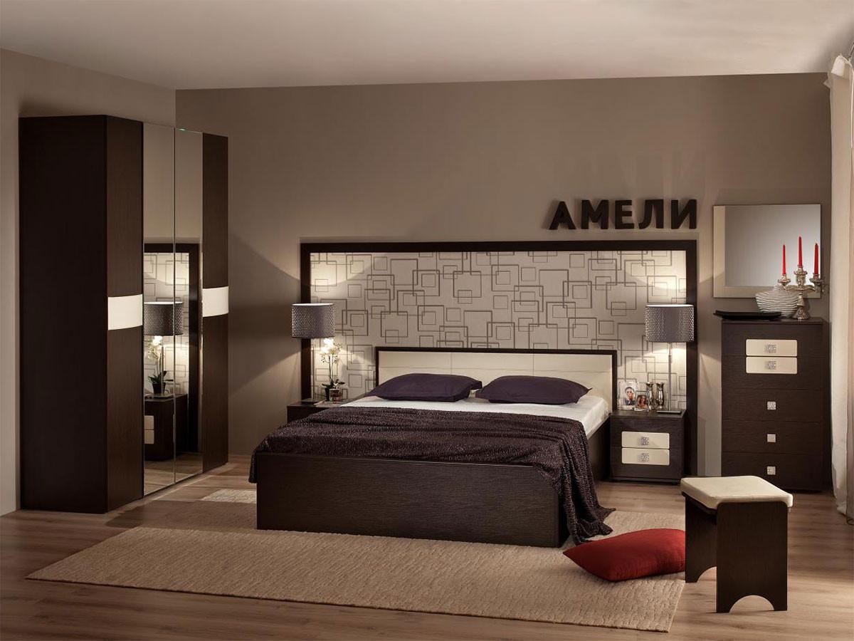 Комплект мебели для спальни ТД Арника Амели Венге К1 спальный гарнитур нк мебель комплект мебели для спальни прага к1