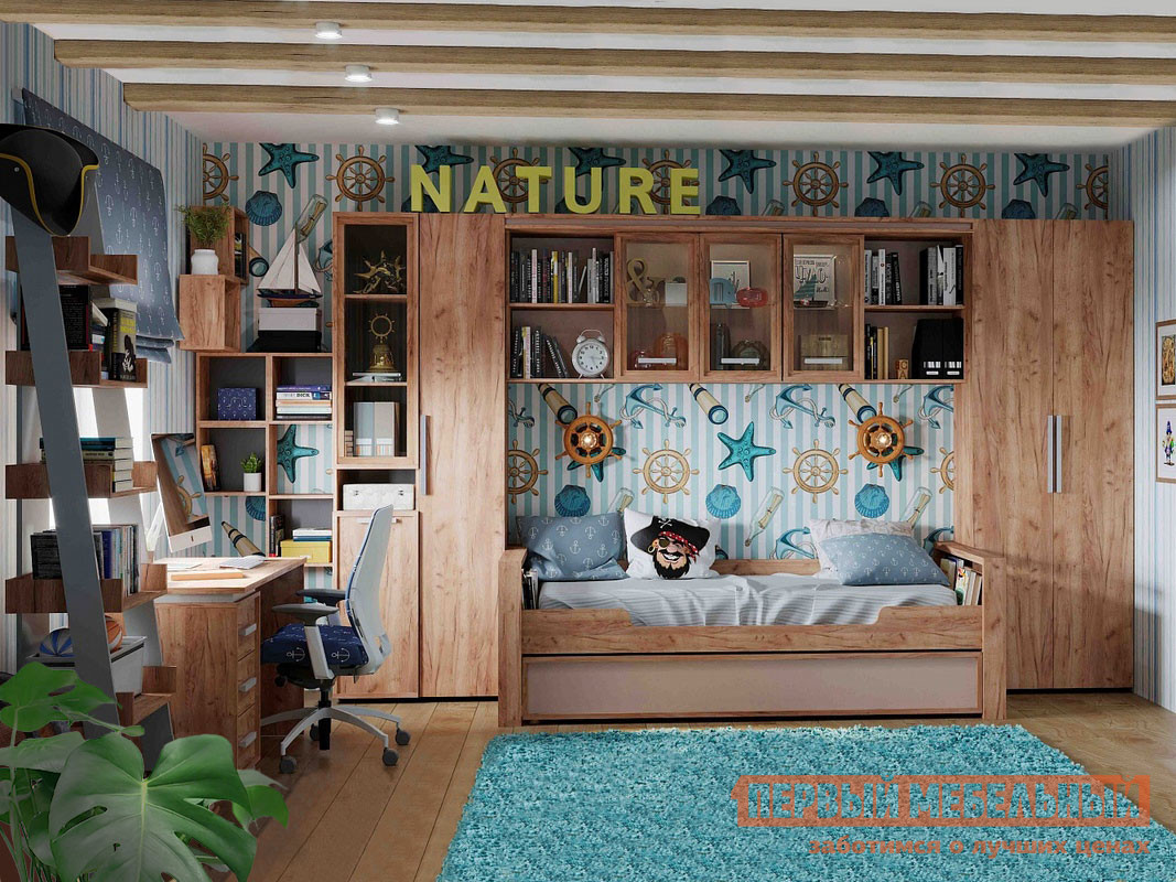 Комплект детской мебели Первый Мебельный Натура К1 комплект детской мебели мебельсон форсаж к1