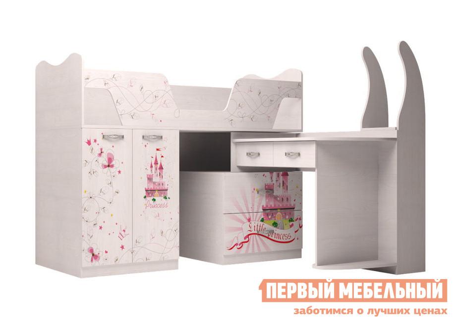 Кровать-чердак ТД Арника Принцесса (09) шкаф для одежды тд арника принцесса 01 принцесса 01 принцесса 02