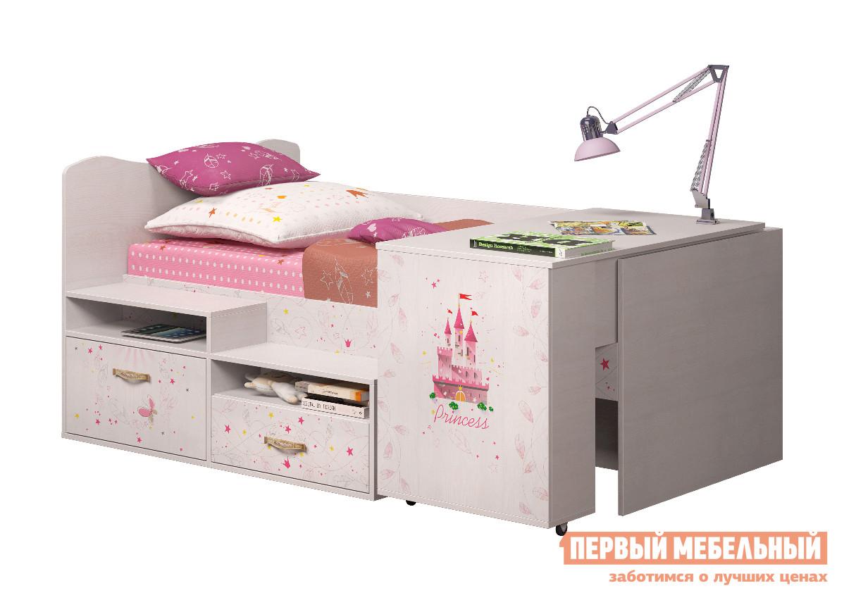 Кровать-чердак ТД Арника Принцесса (12) детская кровать чердак с игровой зоной внизу тд арника ид 01 163а