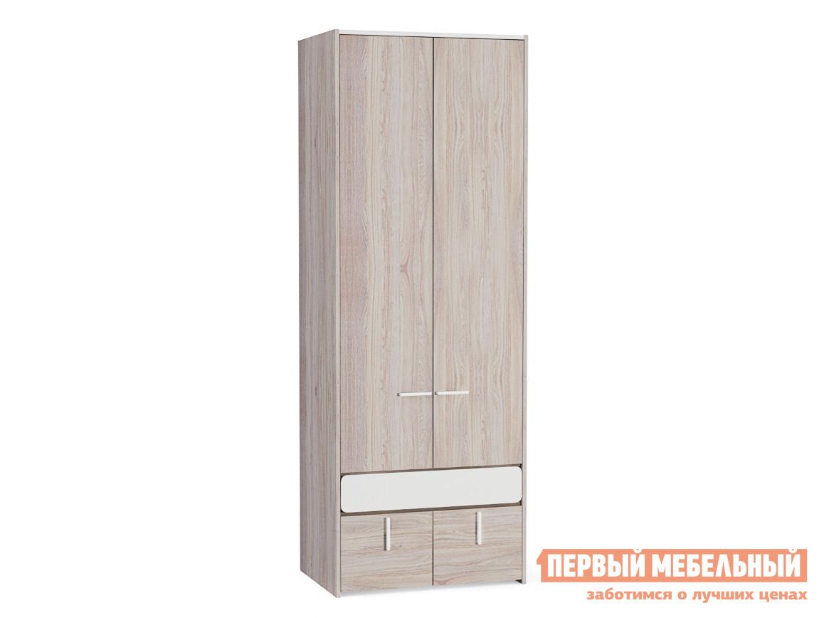 Шкаф распашной Элен 200 Шкаф для одежды Ясень Анкор светлый / Белый глянец фото