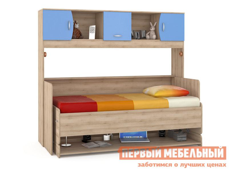 Детская кровать MOBI Ника 428 Т Стол-кровать Бук песочный / Капри Синий