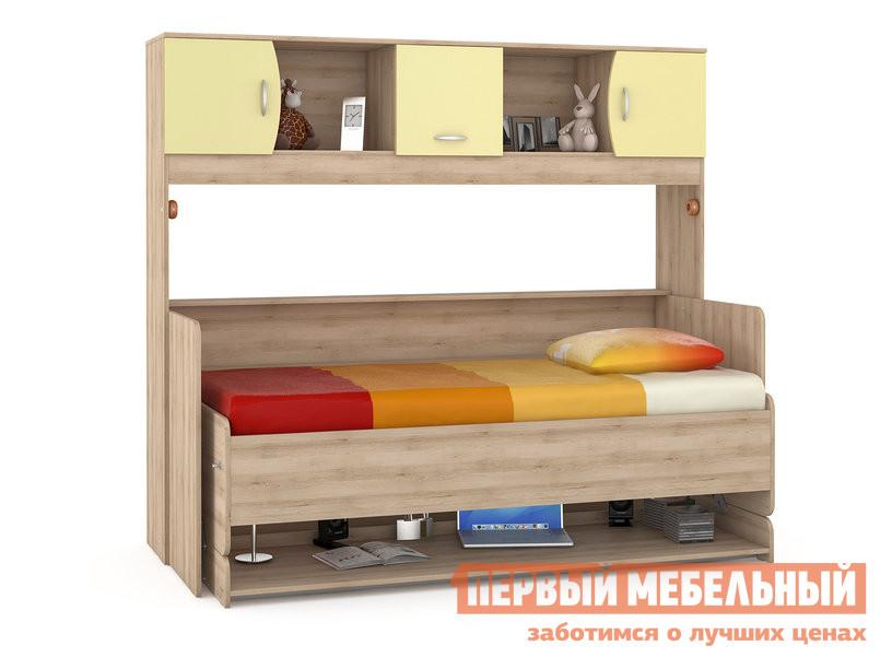 Детская кровать MOBI Ника 428 Т Стол-кровать Бук песочный / Лимонный Сорбет