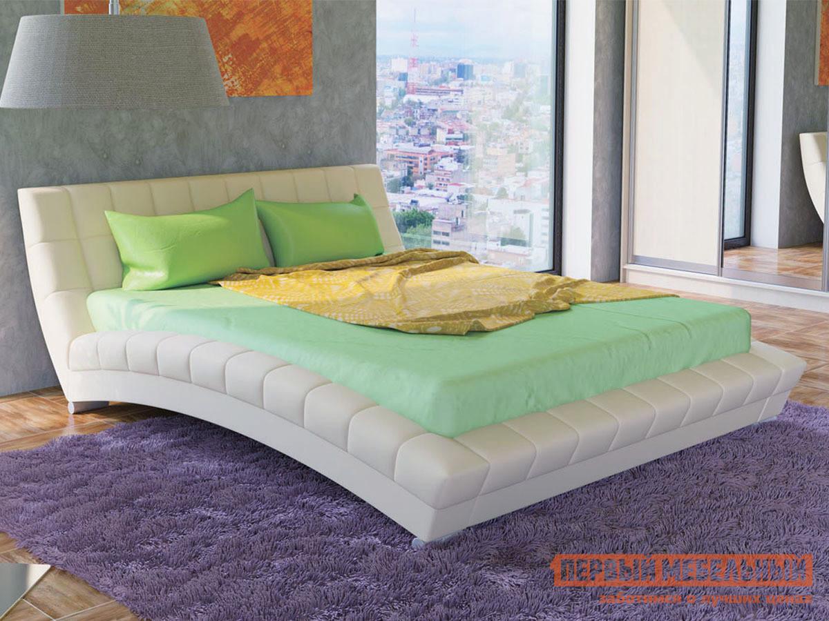 Двуспальная кровать с ортопедическим основанием Первый Мебельный Оливия 160 Кровать двойная Н двуспальная кровать мст оливия модуль 1 1 1 2 1 3