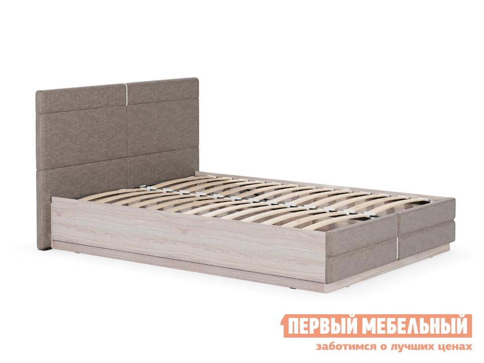 Двуспальная кровать с подъемным механизмом и мягким изголовьем Первый Мебельный Элен Кровать двойная