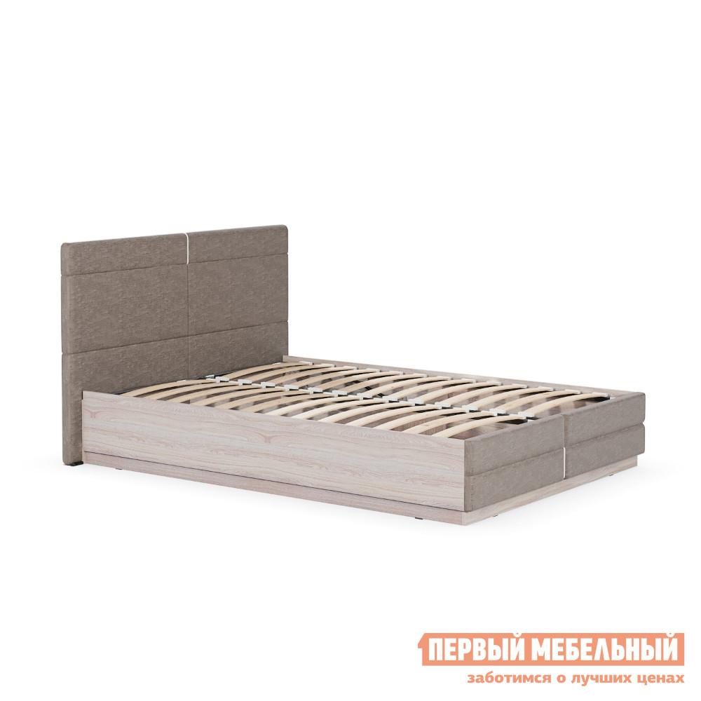 Полутороспальная кровать с подъемным механизмом и мягким изголовьем MOBI Элен 1400 Кровать двойная