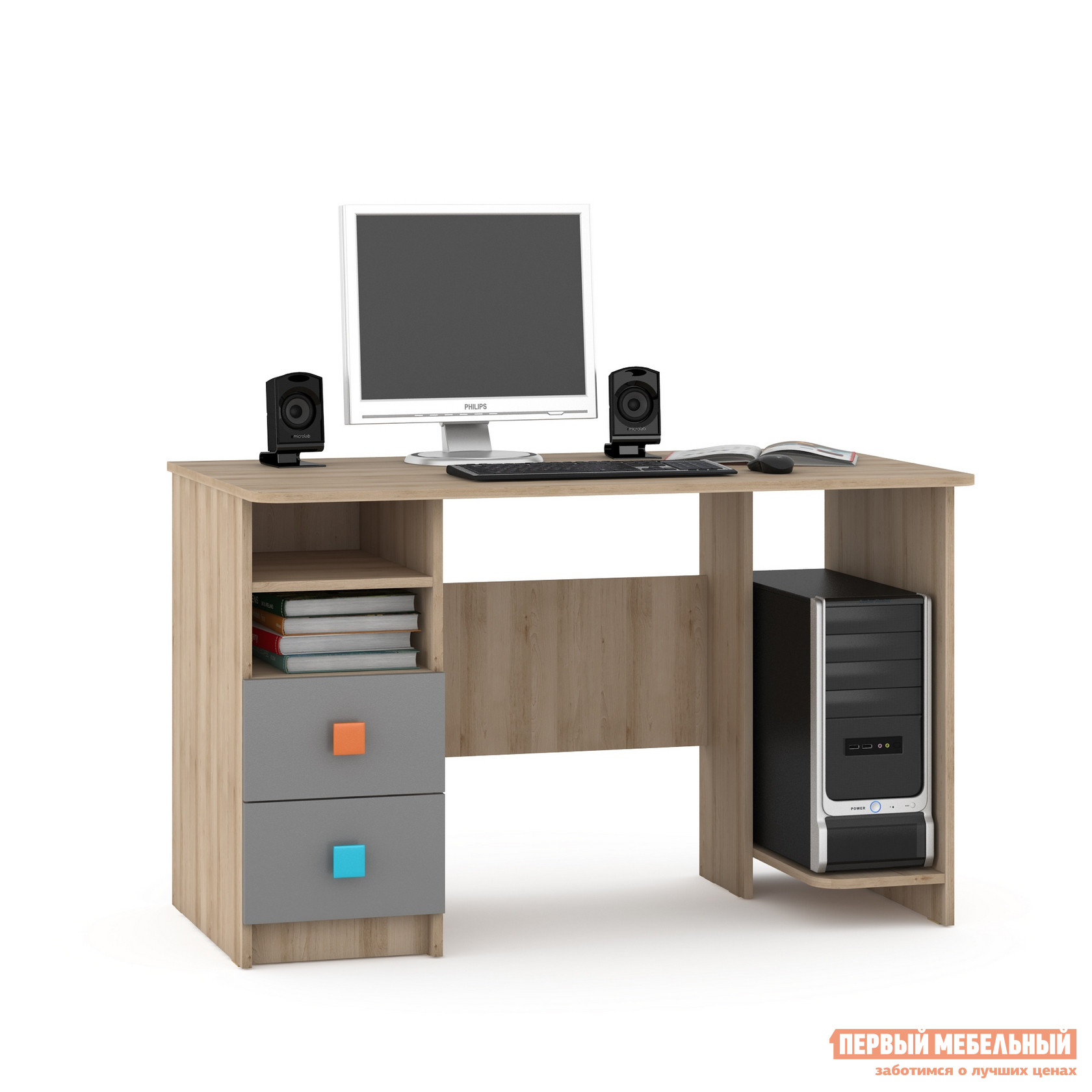 Компьютерный стол детский Первый Мебельный Доминика 458 К Стол письменный