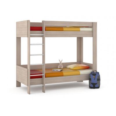 Кровать MOBI Ника 438 М Кровать двухъярусная Ясень Шимо светлый