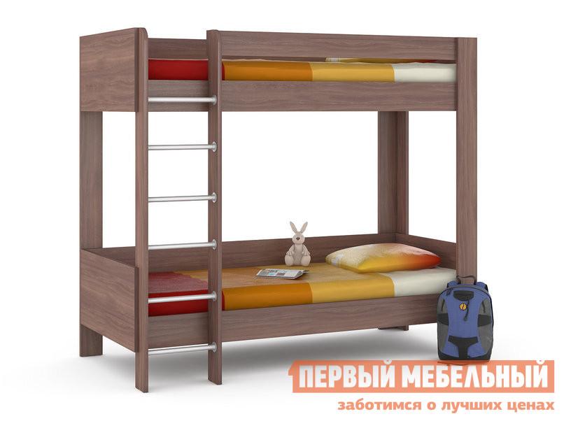 Кровать MOBI Ника 438 М Кровать двухъярусная Ясень Шимо темный