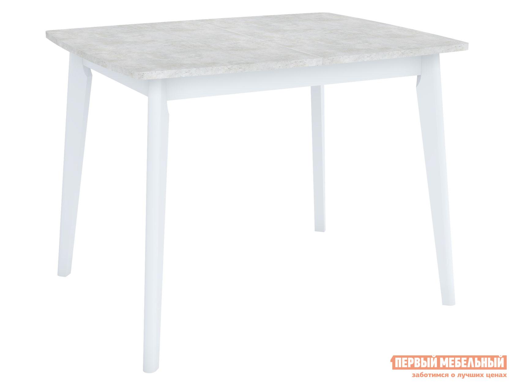 Кухонный стол  Обеденный Vesteros 1200 Бетон лайт / Белый, Малый Stolmann 137725