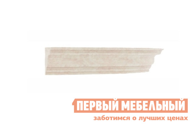 Карниз Любимый дом ЛД 125.160 Кожа Ленто / РустикаКарнизы<br>Габаритные размеры ВхШхГ 42x507x416 мм. Декоративный карниз для шкафов.  Служит для придания мебельной композиции целостного и завершенного образа. Длина карниза — 2440 мм. Крепится при помощи саморезов 3,5х20 мм к верхнему горизонту шкафа.  Саморезы входят в комплект шкафов.<br><br>Цвет: Светлое дерево<br>Высота мм: 42<br>Ширина мм: 507<br>Глубина мм: 416<br>Кол-во упаковок: 1<br>Форма поставки: В разобранном виде<br>Срок гарантии: 24 месяца