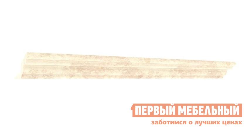 Карниз Любимый дом 285.010 Кожа Ленто / РустикаКарнизы<br>Габаритные размеры ВхШхГ 42x2440x92 мм. Декоративный карниз для шкафов.  Служит для придания мебельной композиции целостного и завершенного образа. Длина карниза — 2440 мм. Крепится при помощи саморезов 3,5х20 мм к верхнему горизонту шкафа.  Саморезы входят в комплект шкафов.<br><br>Цвет: Светлое дерево<br>Высота мм: 42<br>Ширина мм: 2440<br>Глубина мм: 92<br>Кол-во упаковок: 1<br>Форма поставки: В разобранном виде<br>Срок гарантии: 24 месяца