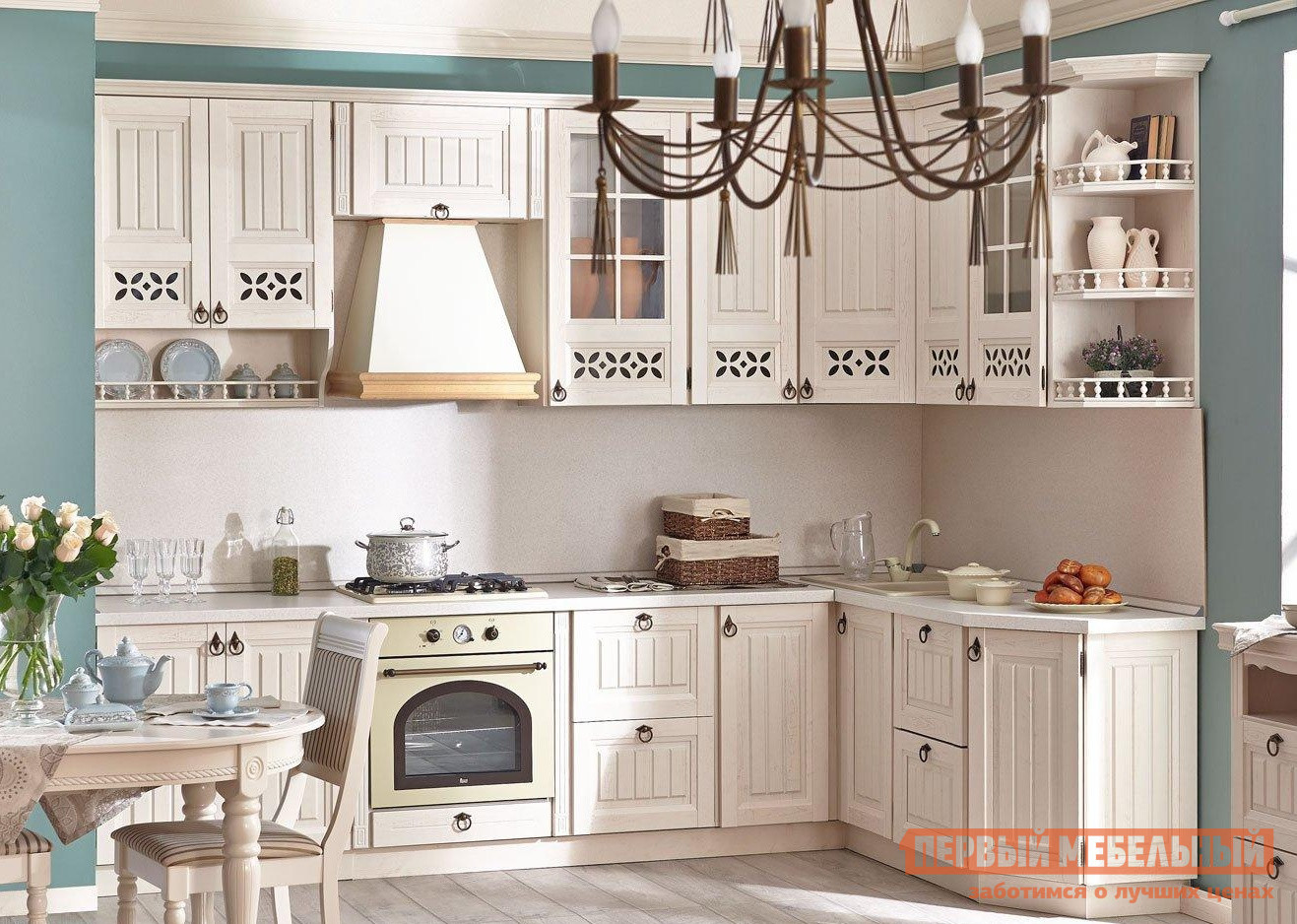 Кухонный гарнитур Любимый дом Амели К Прованс К1 кухонный гарнитур витра глория 3 к1