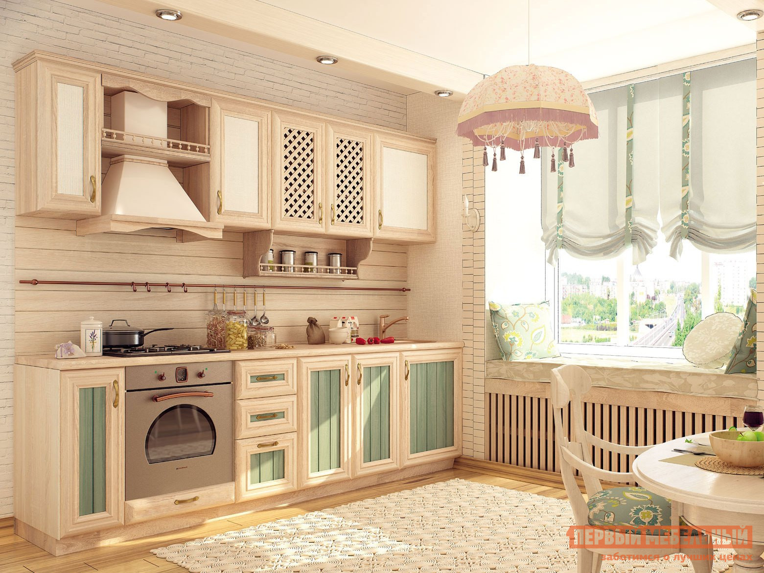 Кухонный гарнитур Любимый дом Кантри 260 см Сонома кухонный гарнитур трия фэнтези 150 см