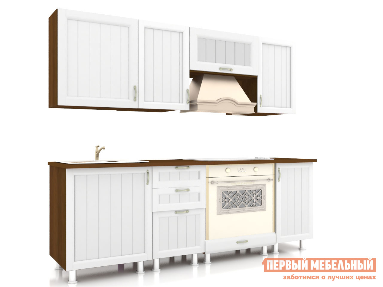 Фото Кухонный гарнитур Любимый дом Кантри 200 см Ясень Светлый
