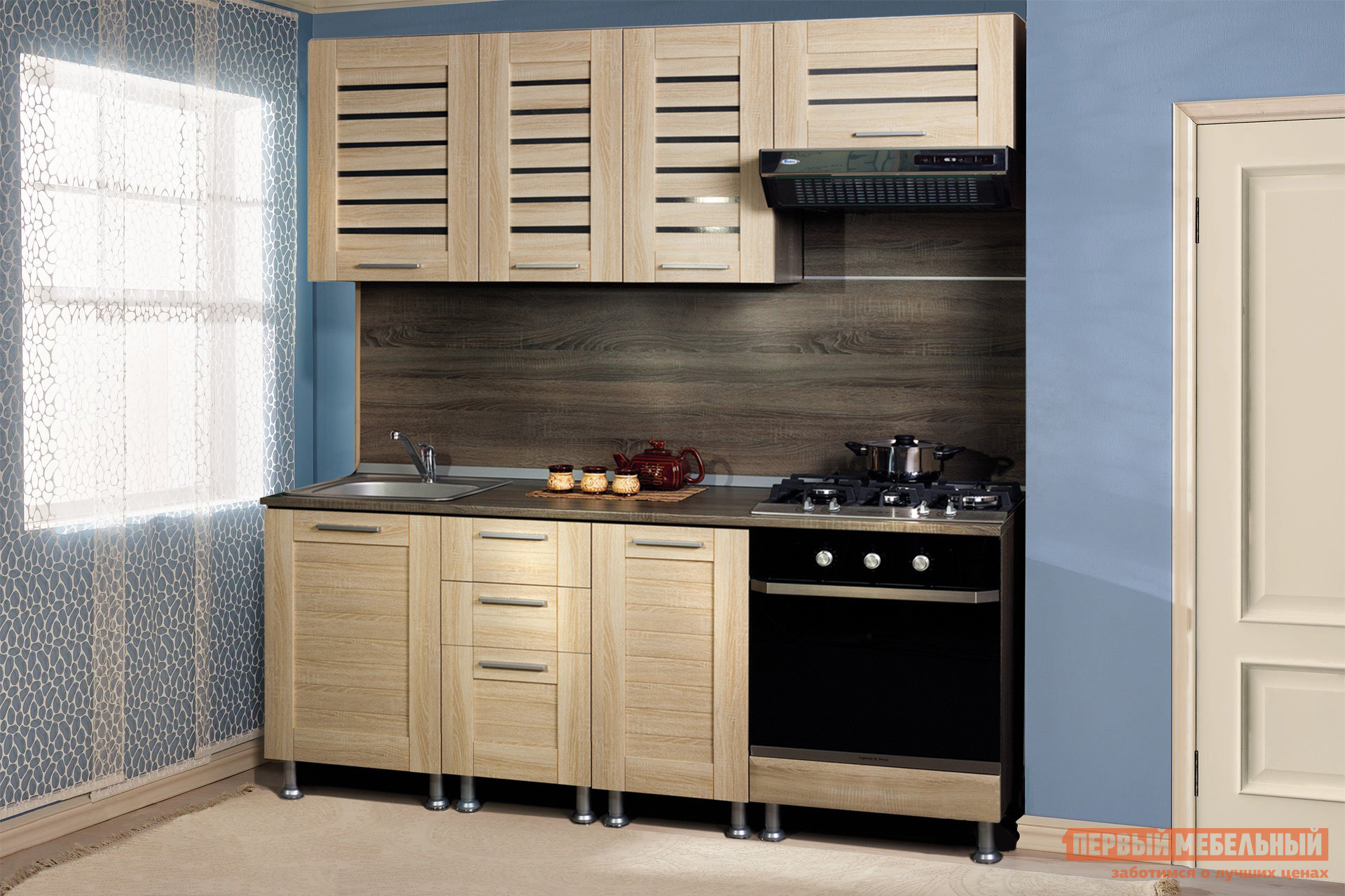 Кухонный гарнитур Любимый дом Анастасия 190 см Сонома кухонный гарнитур трия оливия 240 см